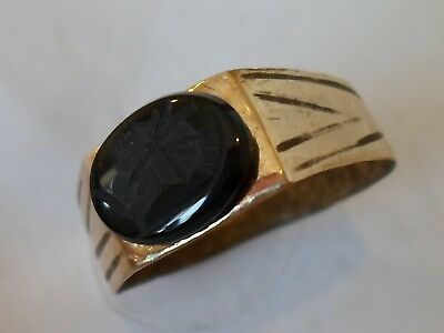 Detector Find & Expertly Polished,post Medieval,stone Intaglio Seal Ring