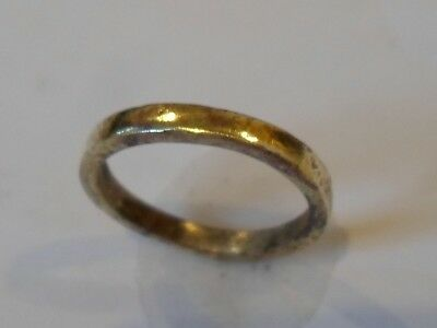 DETECTOR FIND & EXPERTLY POLISHED,13th-15th CENTURY MEDIEVAL WEDDING RING.