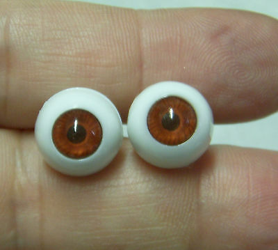 IMSCO Doll Eyes 12 mm BROWN Crystal Lenses - German PUPPENAUGEN - UNUSUAL SHADE