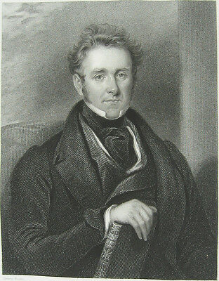 Scotland Doctor Physician Writer Author WILLIAM BEATTIE 1838 Art Print Engraving