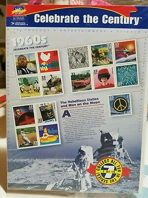1999 - CELEBRATE THE CENTURY 1960's - #3188 Mint Sheet of 15 Stamps
