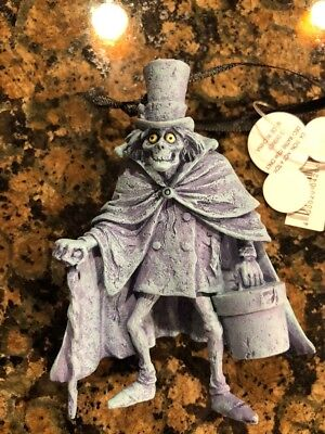 Disney Parks Haunted Mansion Hatbox Ghost Christmas Ornament NEW