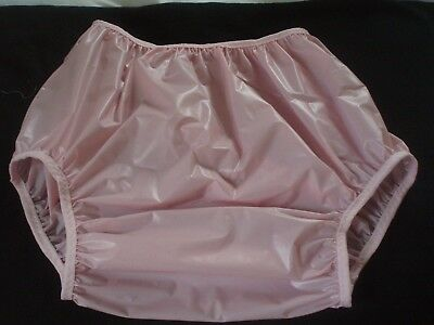 Adult Baby    Pink  Solid Vinyl  Soft Pants 40/52