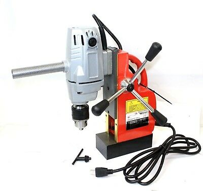 """1HP 750W Electric Magnetic Drill Press 1/2"""" Boring, 1910 LBS Force TableTop"""