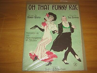 Vintage Sheet Music 1910 Oh That Funny Rag