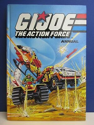 RARE old vintage G.I. JOE THE ACTION FORCE ANNUAL BOOK hardback 1991 marvel 22v