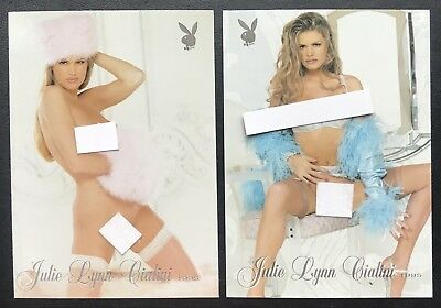 Julie Lynn Cialini (2) Card Playboy Lot - Playmate of the Year - Nice Lot
