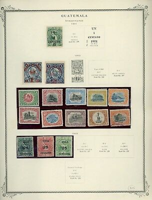 GUATEMALA Album Page Lot #SPEC6 - SEE SCAN - $$$