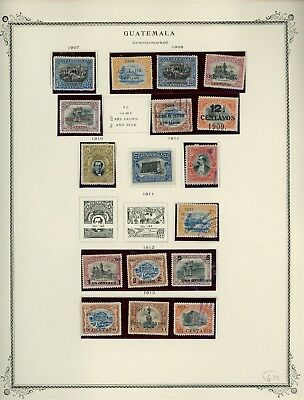 GUATEMALA Album Page Lot #SPEC7 - SEE SCAN - $$$