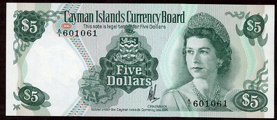 Cayman Islands 5 Dollars N.d. (1974)  Note!! Unc