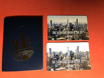 The Signature Room At The 95th Chicago Restaurant Gift Card $50 John Hancock Bld