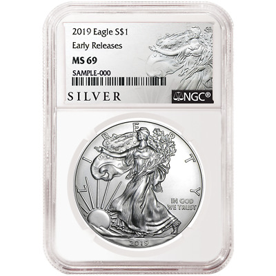 2019 $1 American Silver Eagle NGC MS69 ALS ER Label