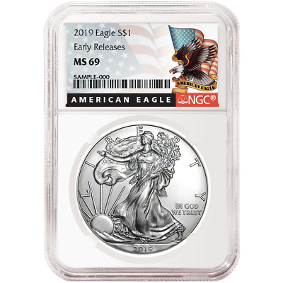 2019 $1 American Silver Eagle NGC MS69 Black ER Label