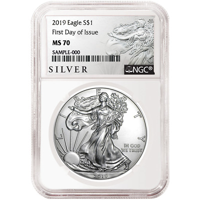 2019 $1 American Silver Eagle NGC MS70 FDI ALS Label