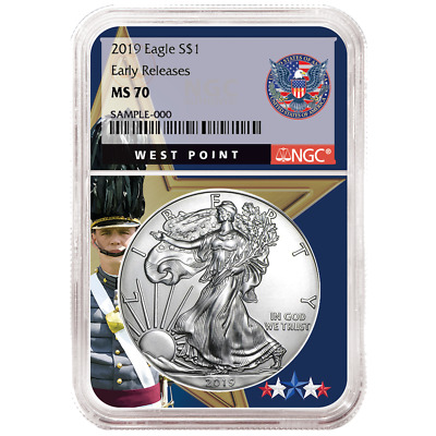 2019 $1 American Silver Eagle NGC MS70 ER West Point Core