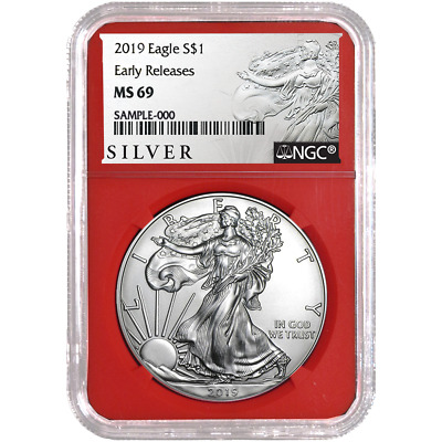 2019 $1 American Silver Eagle NGC MS69 ALS ER Label Red Core