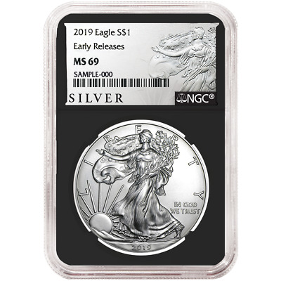 2019 $1 American Silver Eagle NGC MS69 ALS ER Label Retro Core
