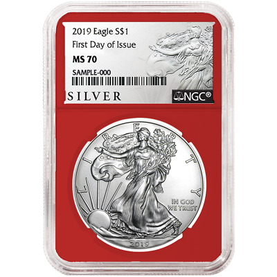 2019 $1 American Silver Eagle NGC MS70 FDI ALS Label Red Core