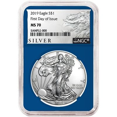 2019 $1 American Silver Eagle NGC MS70 FDI ALS Label Blue Core