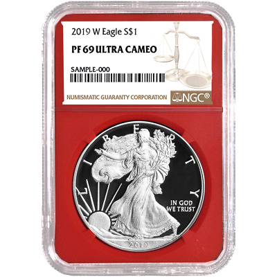 2019-W Proof $1 American Silver Eagle NGC PF69UC Brown Label Red Core