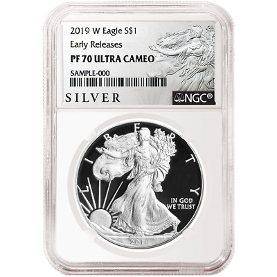2019-W Proof $1 American Silver Eagle NGC PF70UC ALS ER Label