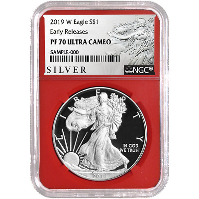 2019-W Proof $1 American Silver Eagle NGC PF70UC ALS ER Label Red Core