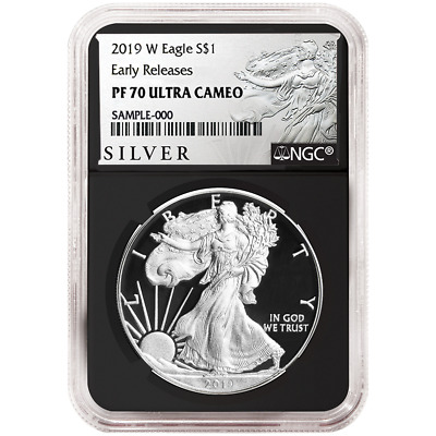 2019-W Proof $1 American Silver Eagle NGC PF70UC ALS ER Label Retro Core