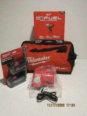 """Milwaukee 2767-20 M18 FUEL ½"""" Impact Wrench W/Friction Ring 1400 lbs Torque NISB"""