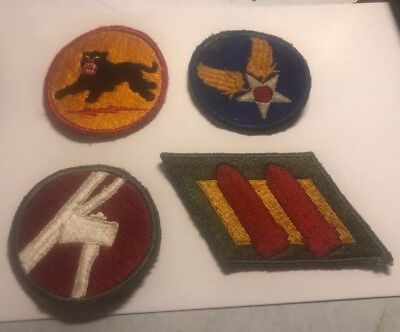 Lot Of Four World War II Military Patches