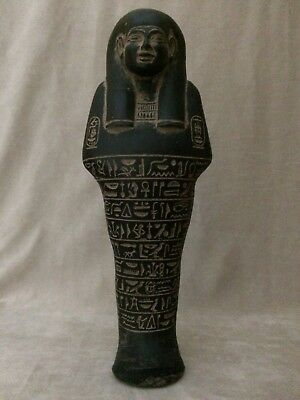 EGYPTIAN ANTIQUES EGYPT STATUE Large Shabti Ushabti Hieroglyph Carved Stone BC