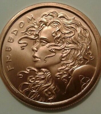 "🌟RARE🌟SBSS 1oz COPPER DOUBLE ""FREEDOM GIRL"" MEDALLION PROOF-LIKE"