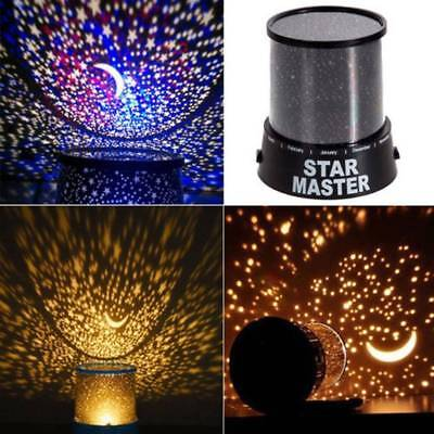 Romantic LED Cosmos Star Master Sky Starry Night Projector Bed Wall Lamp Gift