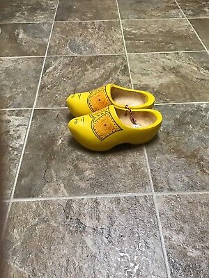 Dutch Holland Wooden Shoes Clogs yellow/Mustard color