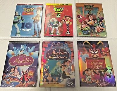 Aladdin Trilogy DVD & Toy Story Trilogy DVDs Combo (Free Shipping)