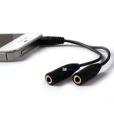 3.5mm AUX Cord Male To Female Stereo Audio Cable Extension Headphone Splitter GE
