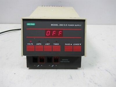 Bio-Rad Model 200 2.0 Power Supply Gel electrophoresis Laboratory Lab Unit