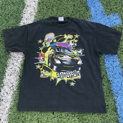 Vintage 2000 Powerpuff Girls Cartoon Network Wacky Racing Shirt Nascar