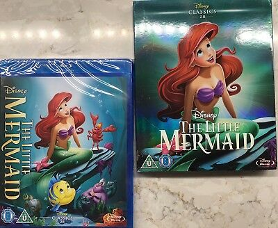The Little Mermaid (1989) Blu-Ray Disney with slipcover BRAND NEW Free Shipping