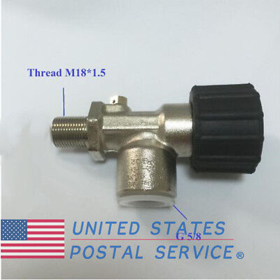 PCP Airsoft 30Mpa 4500psi Paintball Tank Air Bottle Valves Thread M18*1.5 US