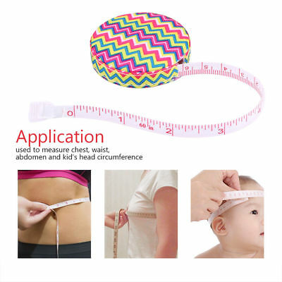 Retractable Ruler Sewing Cloth Tailors Tape Measure Soft Body Measuring Rule NEW