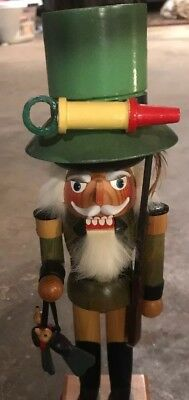 "Vintage Steinbach 10"" Wooden Nutcracker ""The Bird Hunter"""