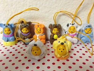 Disney Winnie the Pooh Figure Peek-A-Pooh #17 Dog Edition set of 8 Phone Charm
