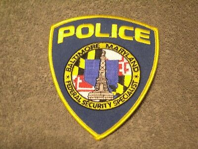 Baltimore Maryland Large Police Patch! Amazing Details And Colors!