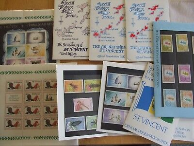 Presentation Packs & Mini Sheets From St.vincent & St.vincent And The Grenadines