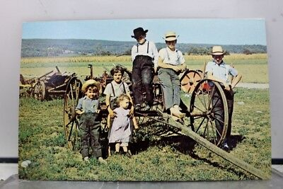 Scenic Amish Country Children Postcard Old Vintage Card View Standard Souvenir