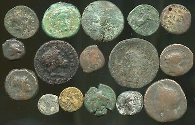 Lot of lower grade Ancient Greek Coins