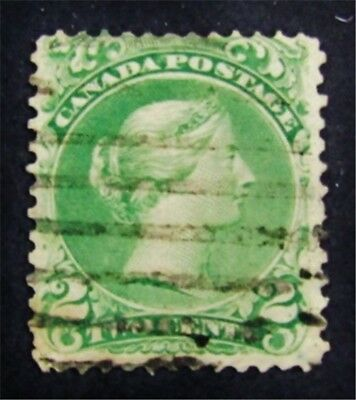 nystamps Canada Stamp # 24 Used $95