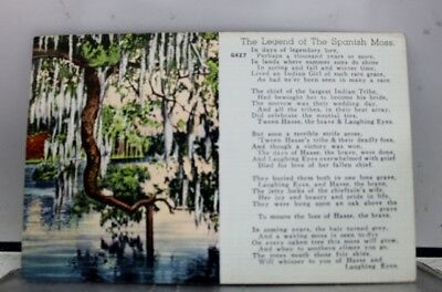 Scenic Legend Spanish Moss Postcard Old Vintage Card View Standard Souvenir Post