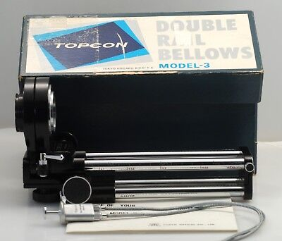 Topcon Bellows III in box w/ cable and Instuctions..Beautiful!