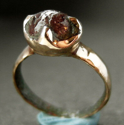 BEAUTIFUL COMPLETE GENUINE ROMAN BRONZE RING - UK find